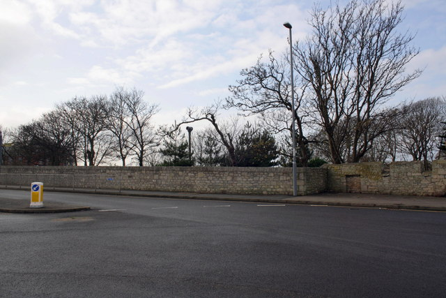 Castle Road wall near entrance to Osprey Leisure Centre