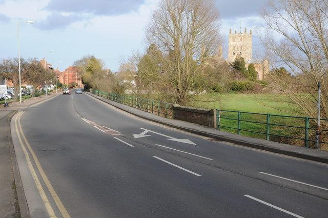 Road into Tewkesbury