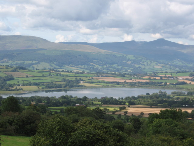 Llangorse lake from Cockit Hill