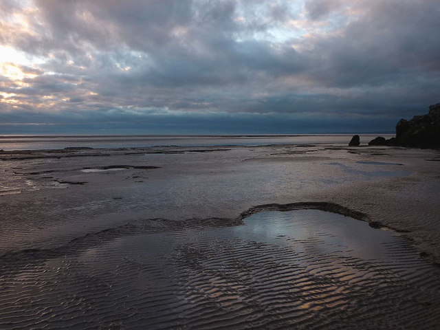 Sand ripples, mouth of the Keer estuary