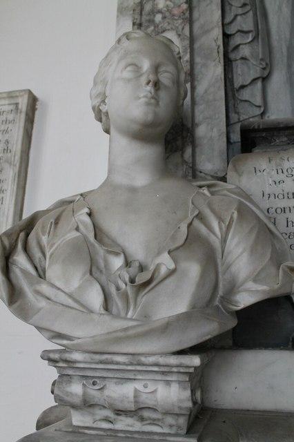 Mary Heneage on Sir Geo. Heneage memorial
