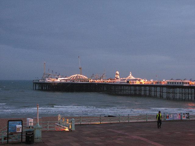 Palace Pier illuminated