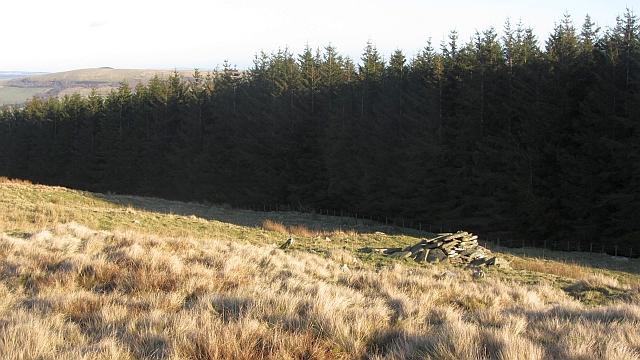 Cairn on Ferniehirst Hill