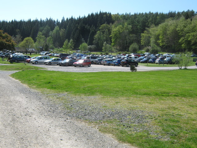 Kirroughtree car park on a Bank Holiday Monday