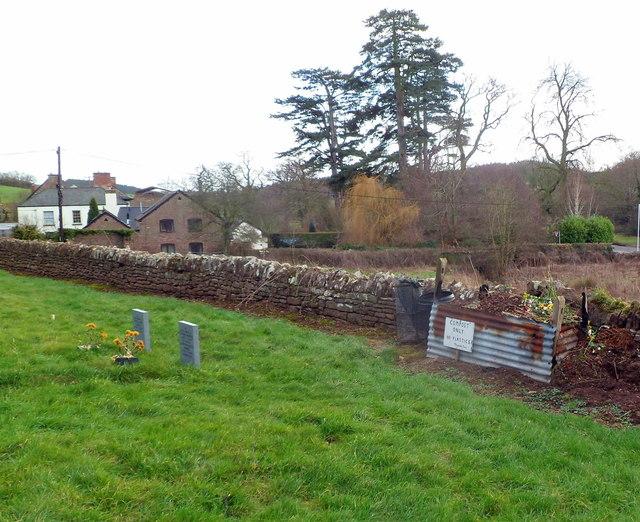 Churchyard compost heap, Welsh Newton