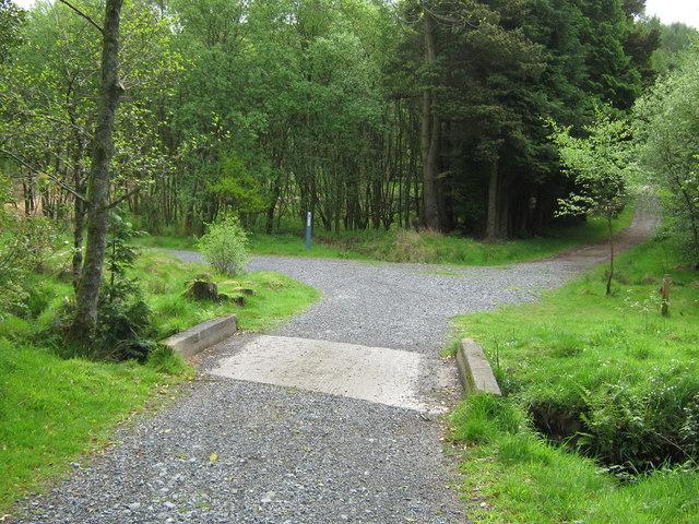 A concrete bridge on the 7 Stanes Trail