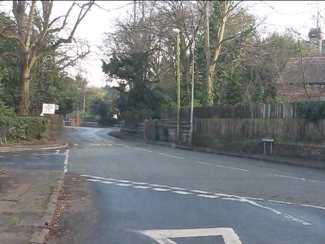 Hunts Lane from the bridge approach
