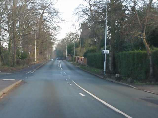 Stockport Road (A56), looking east at Stanton Road