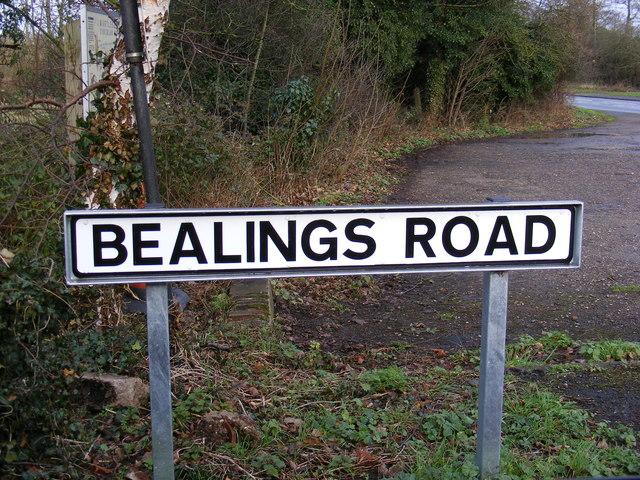 Bealings Road sign