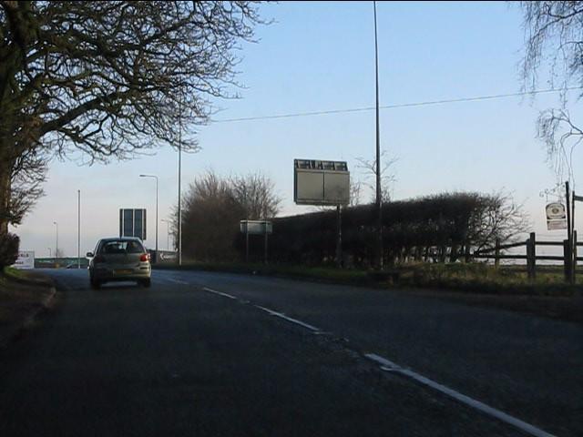 A50 near Bradley Hall
