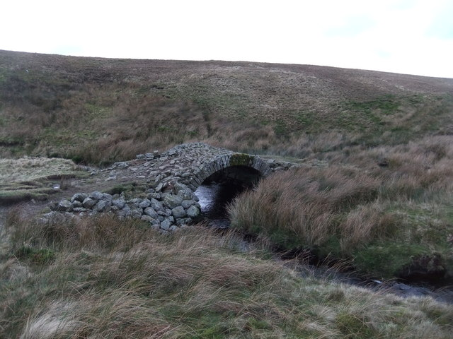 Ancient bridge over one of the feeders to Arkle Beck