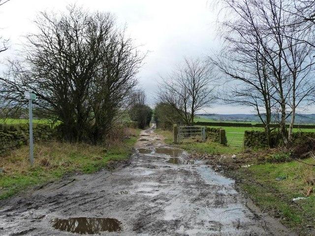 Cross Lane, west of Coplowe Lane