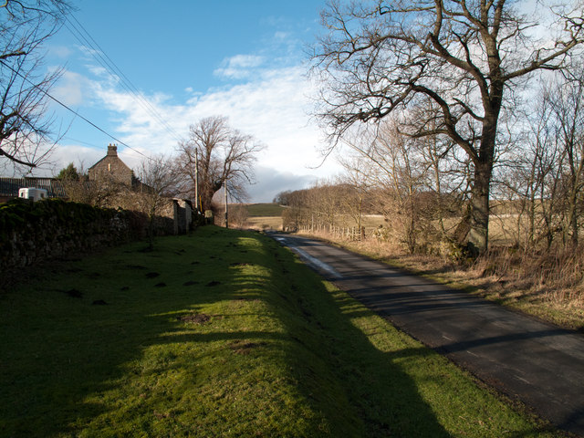 Minor road passing Greenhead Farm