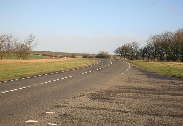 The A159 away from Blyton