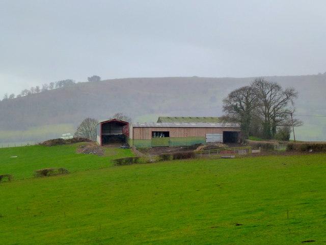 Hilltop farm buildings