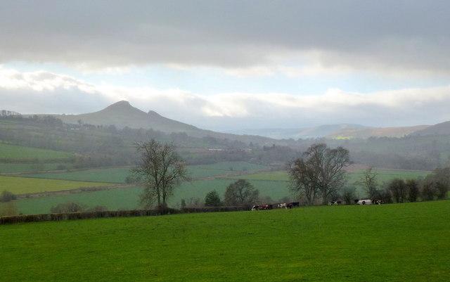 View to The Skirrid Mountain
