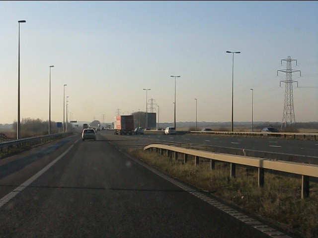M62 motorway - joining westbound at junction 8