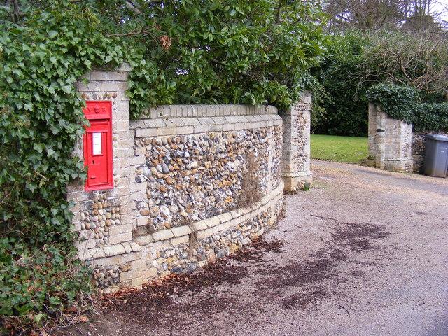 Foxborough Hall Victorian Postbox