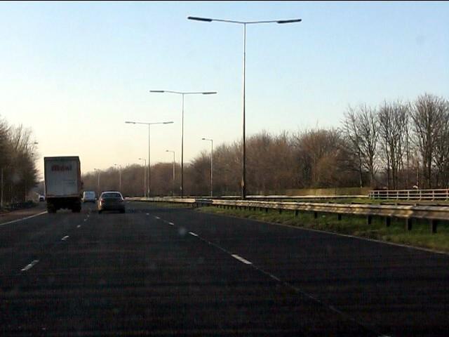 M62 motorway crosses Wheat Hill Road