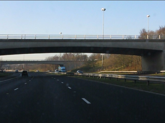 M62 motorway - junction 5 bridges