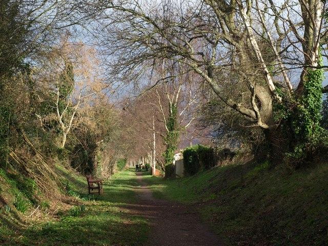 Former railway line, Budleigh Salterton