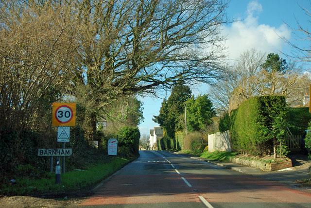 Entering Barnham