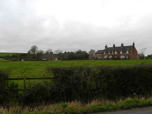 Rows of brick built cottages, Bradley