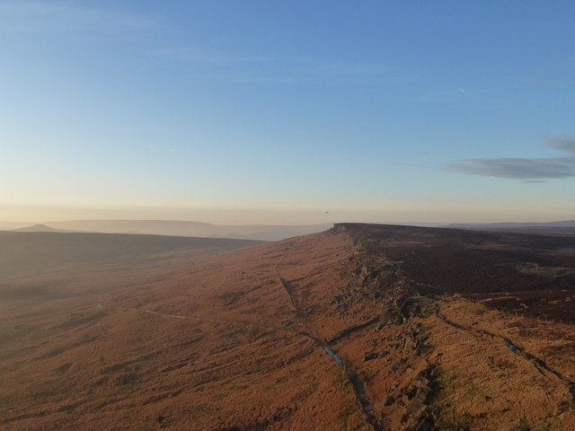 Paragliding On Stanage Edge