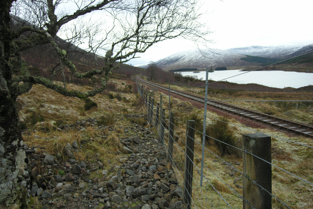 Looking west along the Inverness to Kyle of Lochalsh railway line