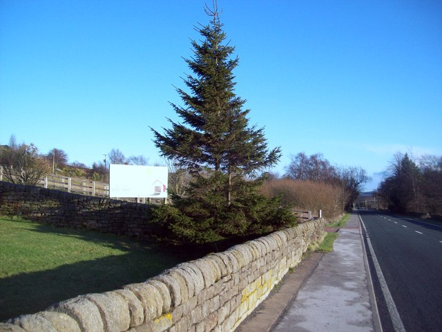 The A 6101 Manchester Road at Hollow Meadows