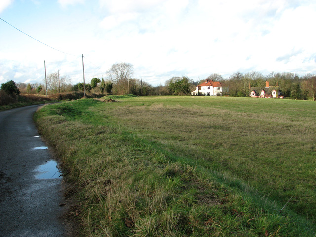 Approach to the A1071 road from Cherryground, Hintlesham