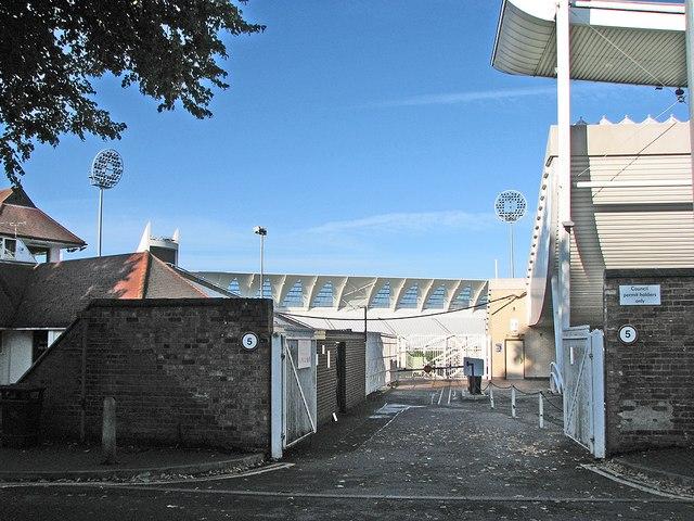Trent Bridge Cricket Ground from Fox Road