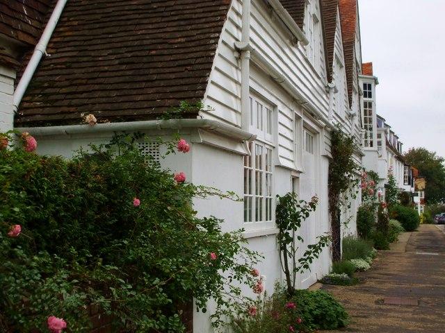 Weatherboard houses, German Street, Winchelsea