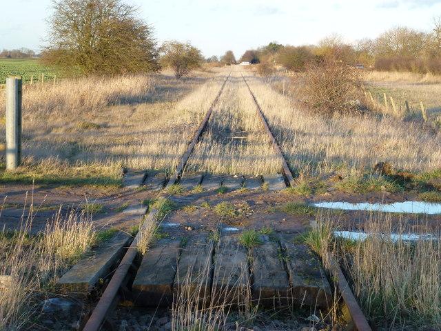 Wisbech to March railway near Rutlands Farm, Coldham