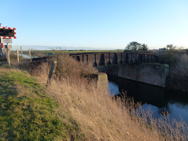 Railway bridge over the Twenty Foot River near March
