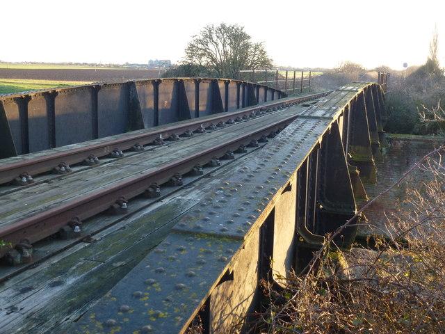 Rusting rails and rivets - Railway bridge over Twenty Foot River