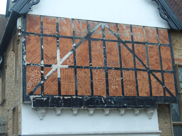 Gable wall on the old vicarage