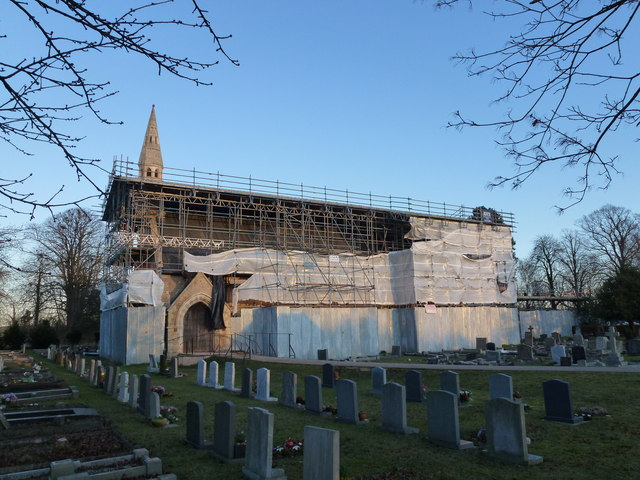 St Mary's Church, Westry - Still under repair