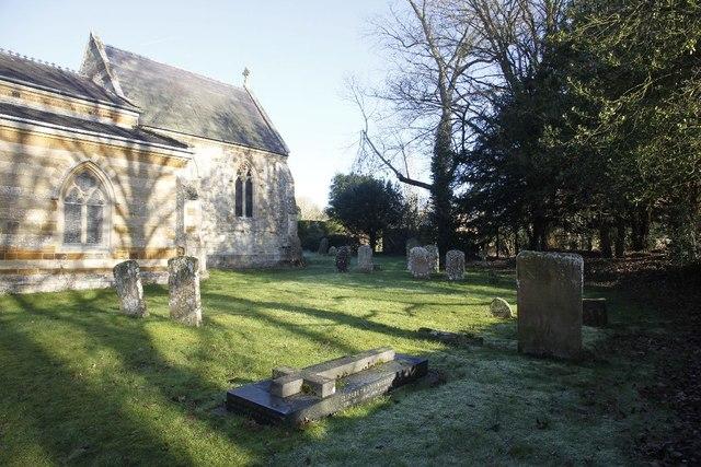 Churchyard in the shade