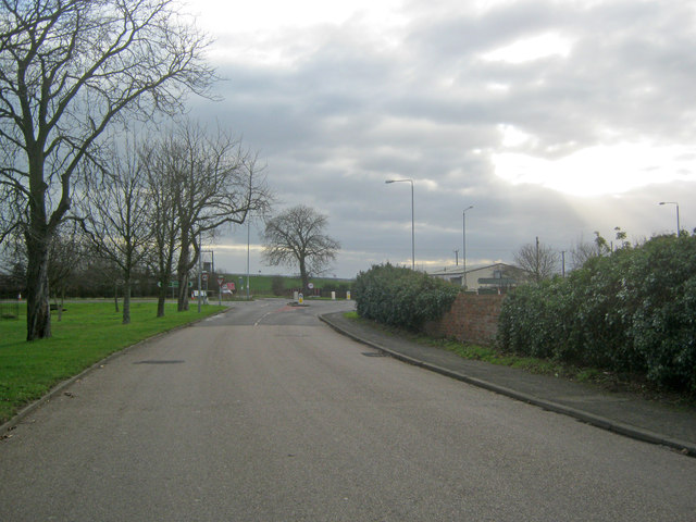 Road junction at Farndon