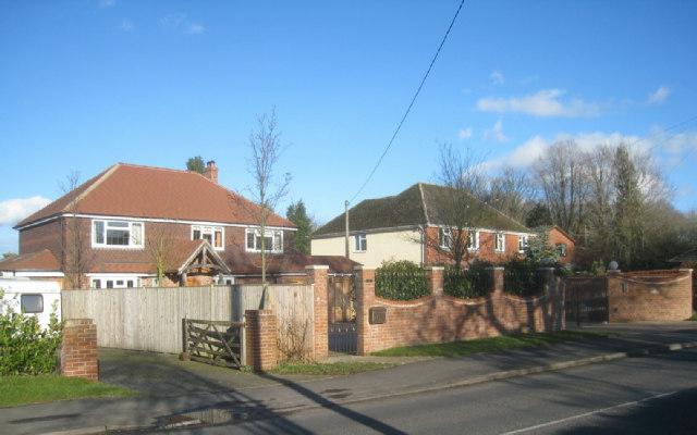 Housing along Pack Lane