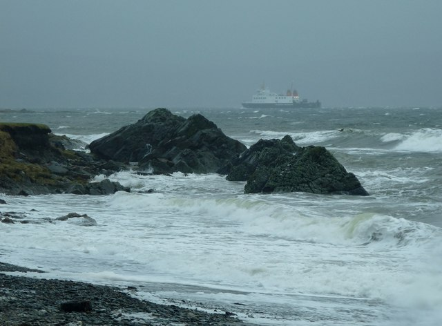 Rothesay ferry braves a storm off Toward Point