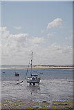 NU1341 : Low Water at The Harbour Holy Island by Peter Skynner