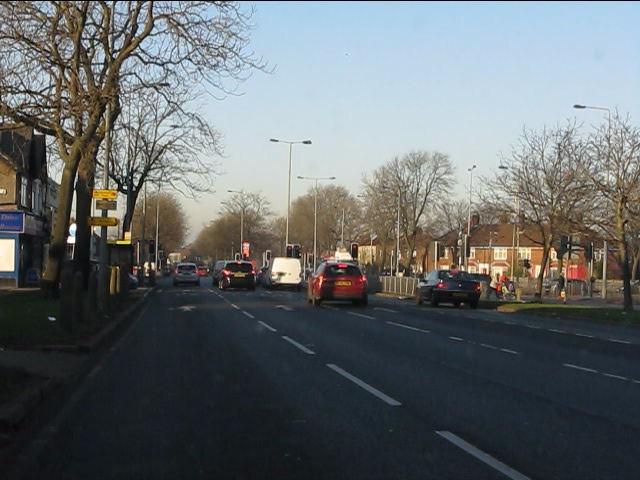 Queens Drive - Prescot Road traffic lights