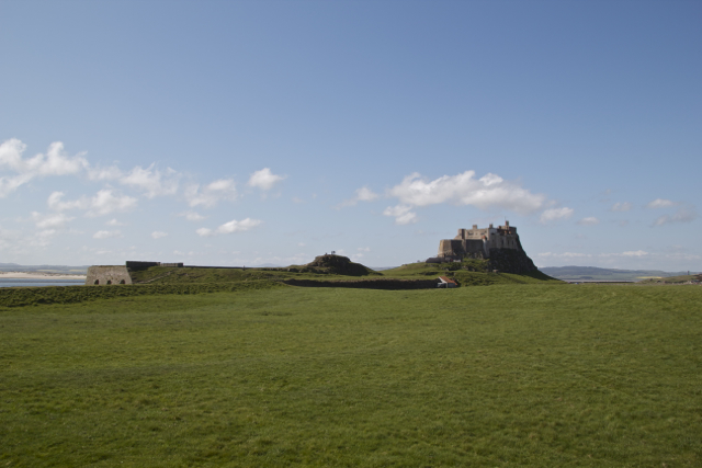Lindisfarne Castle plateau Holy Island
