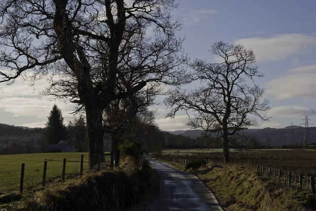 Minor road at Fanellan