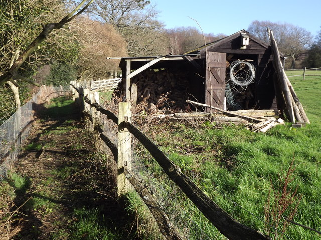 Wood Shed by Lapscombe Farm