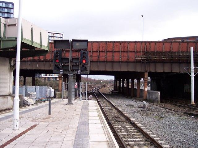Platform end at Victoria Station