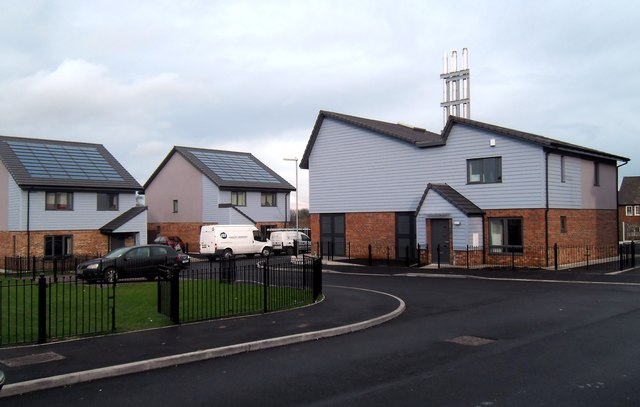 Energy efficient housing estate at  Castleford