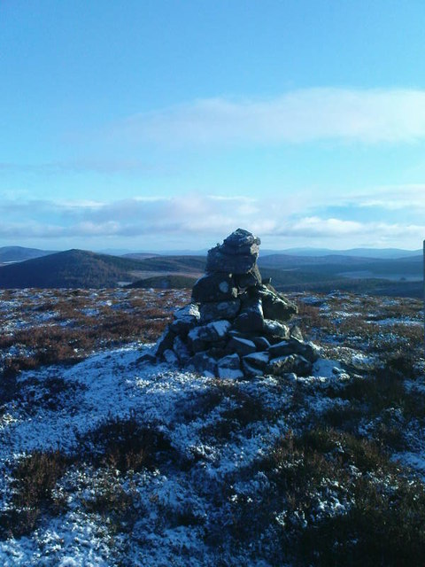 Cairn on Clashenteple Hill